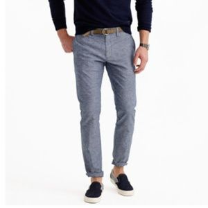 J.Crew Linen blend Chambray Chino Pant In 484 Fit